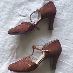 Vintage 1940's dance shoes size 6